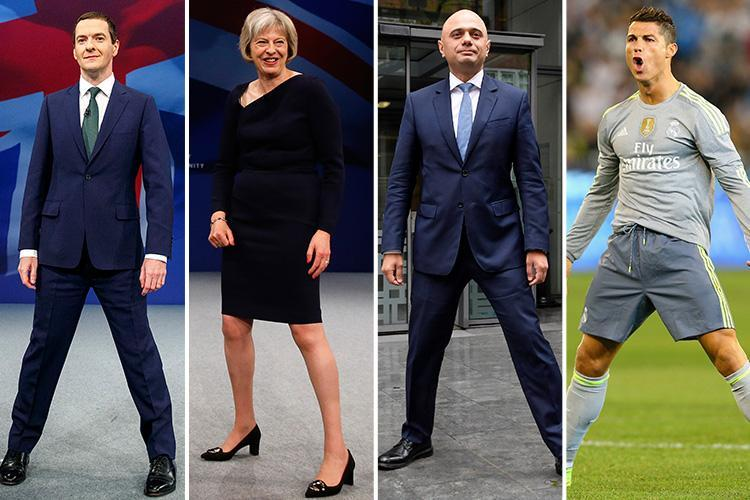 Why the Tories – and Ronaldo – always adopt that weird 'power pose'… but they didn't get the memo it should only be done in private