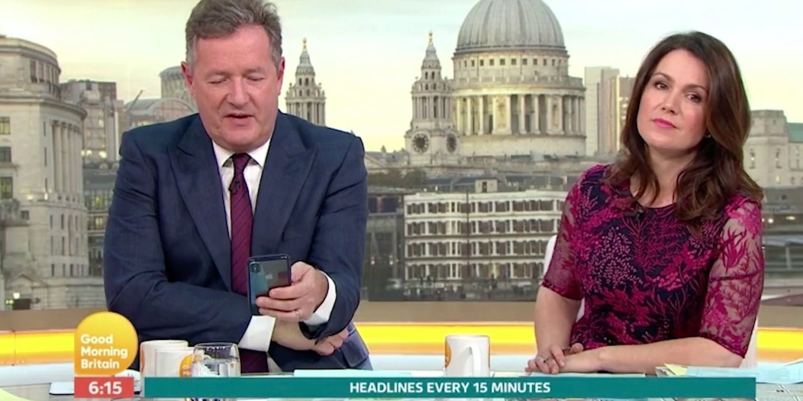 Good Morning Britain viewers slam Piers Morgan after he interrupts Manchester attack report to talk about Instagram