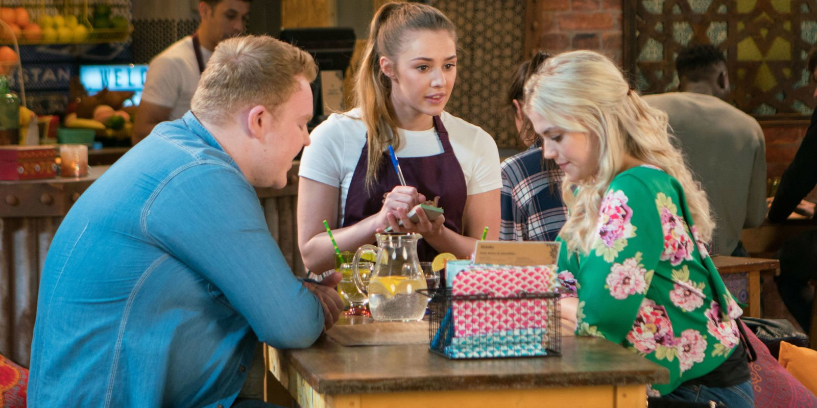 Coronation Street newcomer Kayla hides her true identity as she meets Bethany and Craig tonight