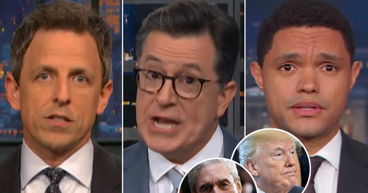 Late-Night Stars Suspect Trump's Team Leaked Robert Mueller's 49 Questions and Have Questions of Their Own