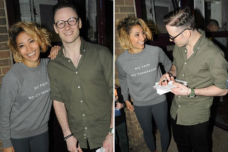 Strictly exes Kevin and Karen Clifton put on a united front as they sign autographs after their dance show