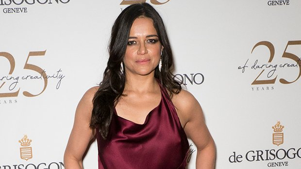 Michelle Rodriguez Avoids Major Wardrobe Malfunction While Braless In Sexy Halter Dress