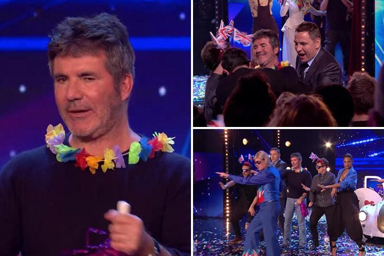 Britain's Got Talent fans in hysterics over Simon Cowell's awkward dad dancing after he's pulled on stage