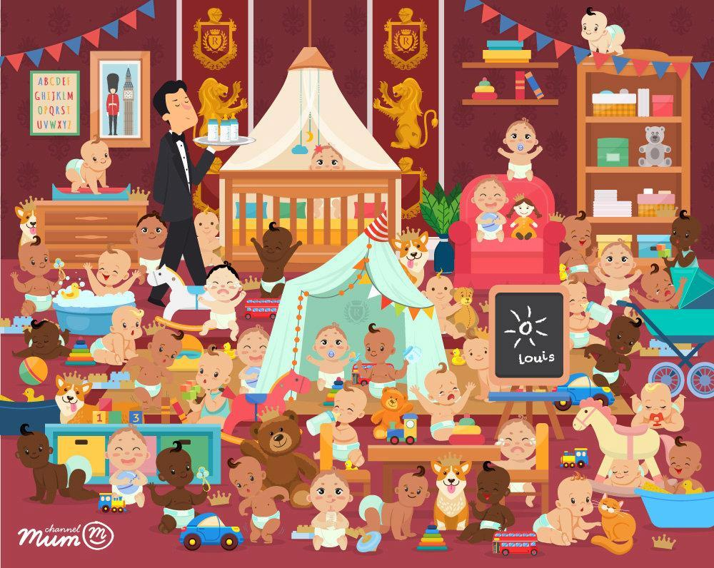 Can you spot the royal baby in a nursery full of crawling tots?
