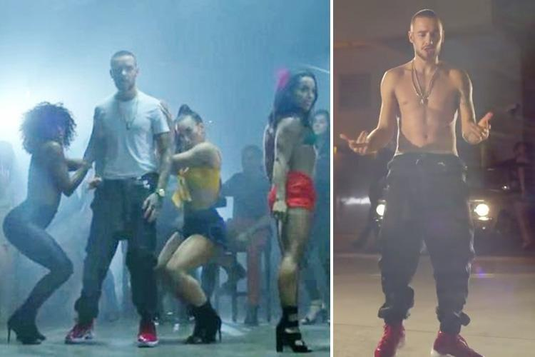 Topless Liam Payne cavorts with sexy female dancers in video for new song Familiar
