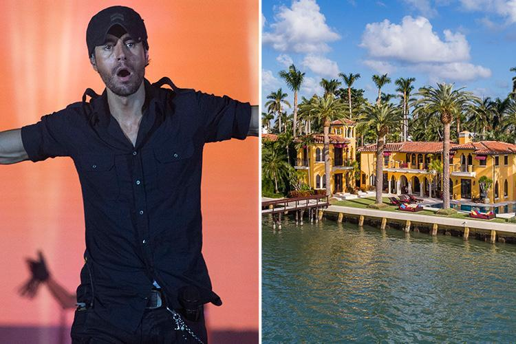 Enrique Iglesias' former home in Miami has price slashed to £13.9m after the luxury seven bedroom mansion failed to sell