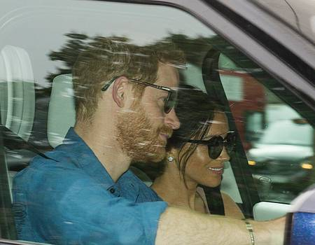 Prince Harry, Meghan Markle Spotted for First Time After Royal Wedding