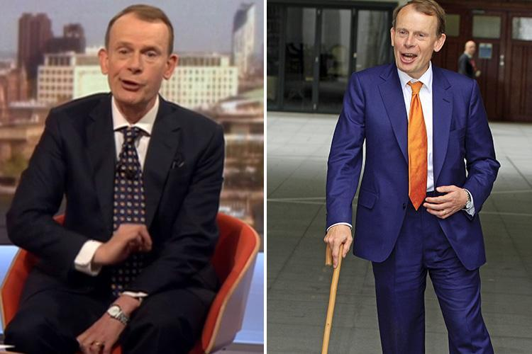 BBC's Andrew Marr has kidney cancer and tells viewers he will be away for a couple of weeks for a 'small hospital operation'