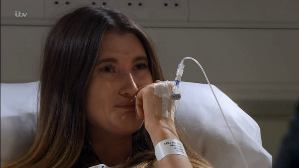 Emmerdale viewers disgusted by sobbing Debbie Dingle as Ross Barton finally confronts her in dramatic hospital showdown after shooting