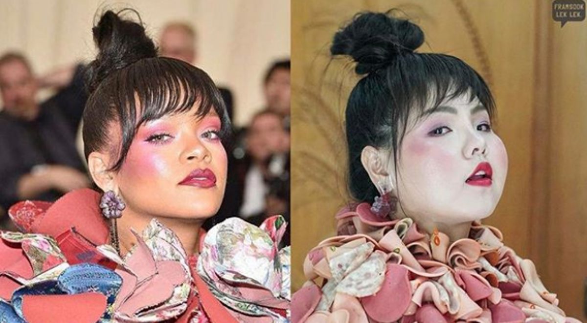 This Plus-Size Model Recreated Rihanna's Met Gala Gown — With Ham