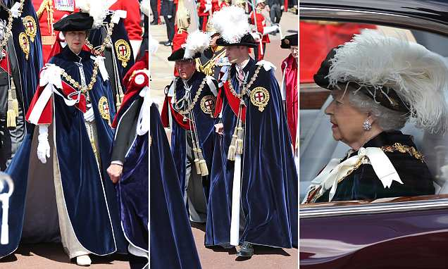 The Queen attends the Garter Day service at Windsor Castle