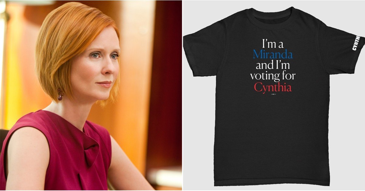 Cynthia Nixon Launched Sex and the City Campaign Merch For All the Mirandas Out There