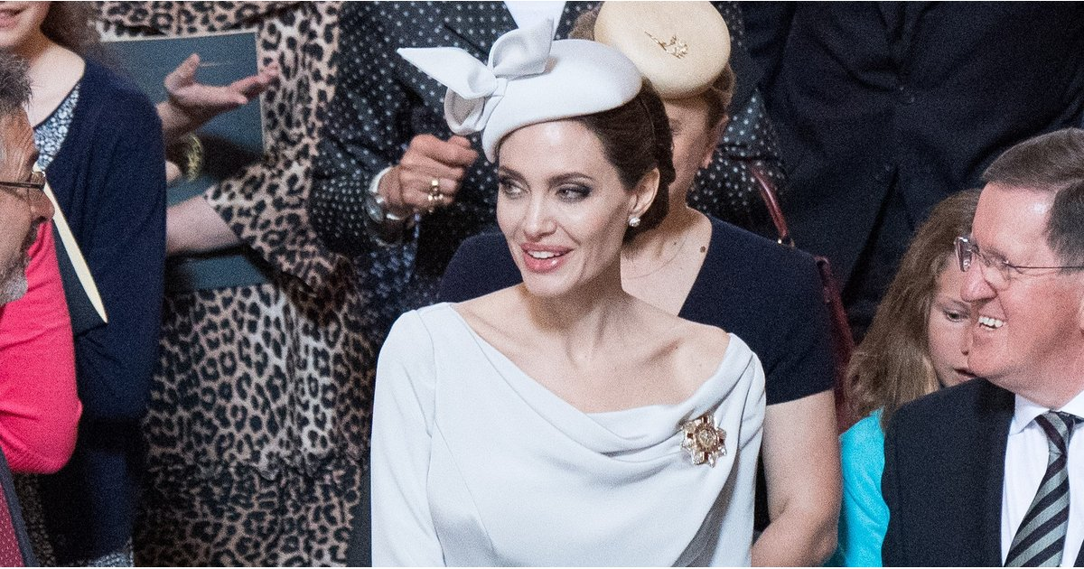Angelina Jolie Just Took Fashion Tips From Meghan and Kate, and Someone Make Her a Princess ASAP