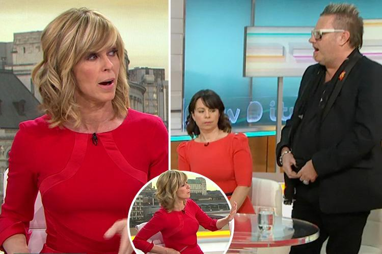 Kate Garraway left shocked and furious as father's rights activist opens his trousers live on air on Good Morning Britain