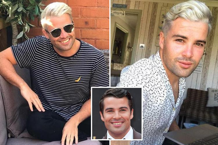 X Factor's Joe McElderry looks almost unrecognisable after bleaching his hair