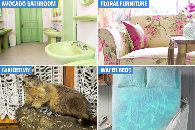 Waterbeds, toilet mats and taxidermy… How many of the worst 'interior design crimes' have YOU been guilty of?