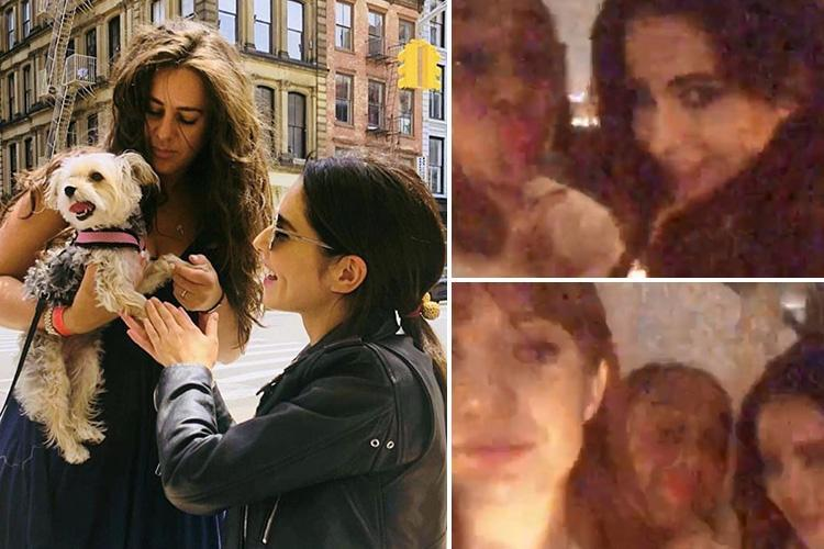 Cheryl poses for selfies with pals after flying to New York for holiday with Nicola Roberts