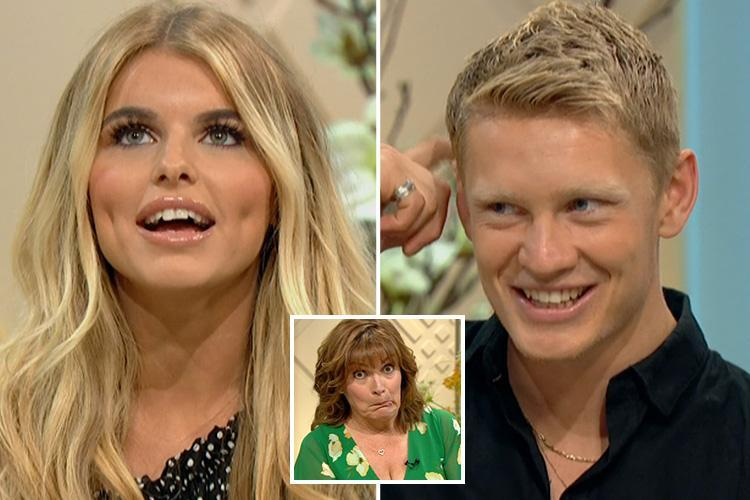 Love Island's Hayley and Charlie refuse to sit next to each other on Lorraine