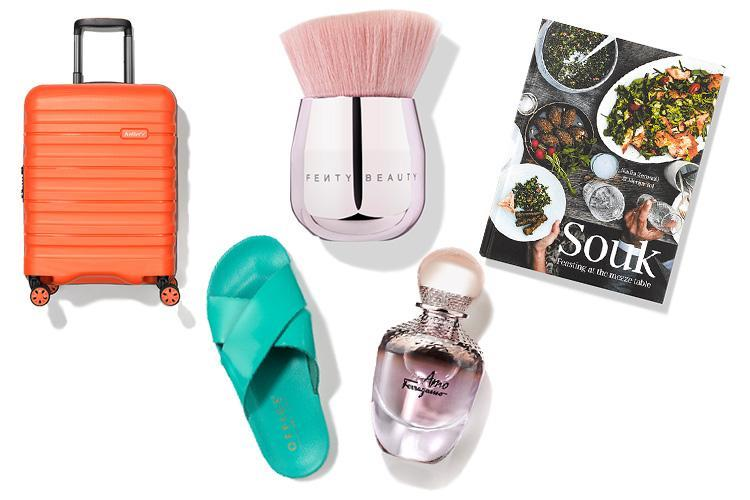 A totally tropical travel case, palm-tree earrings and lollipop-bright sandals… here's what we're lusting after this week