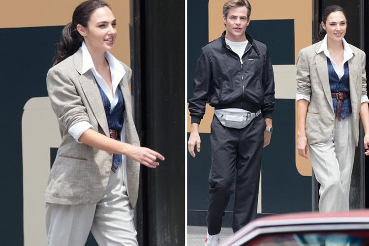 Gal Gadot spotted on the set of Wonder Woman 2 with Chris Pine… whose character was killed off in the first film