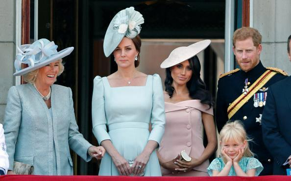 This is why Meghan Markle stood BEHIND Kate Middleton for her Buckingham Palace balcony debut