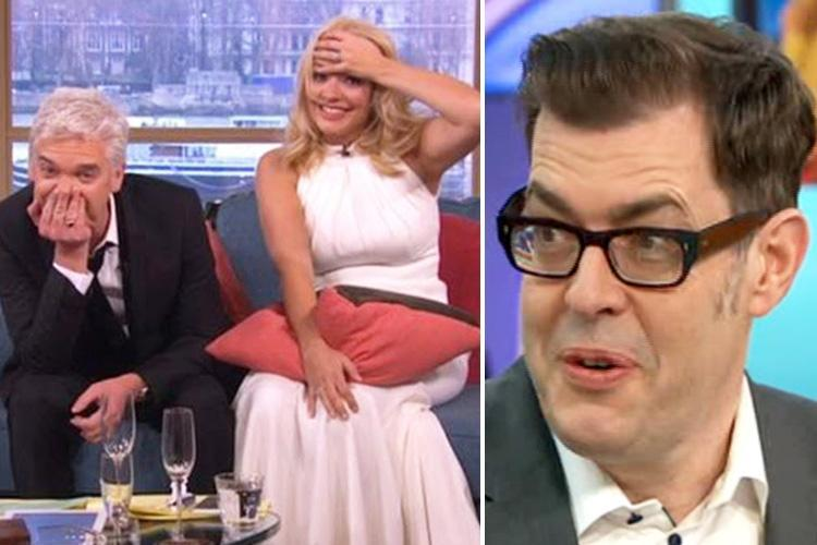 Holly Willoughby and Phillip Schofield are 'always the drunkest table at awards shows' says Pointless host Richard Osman