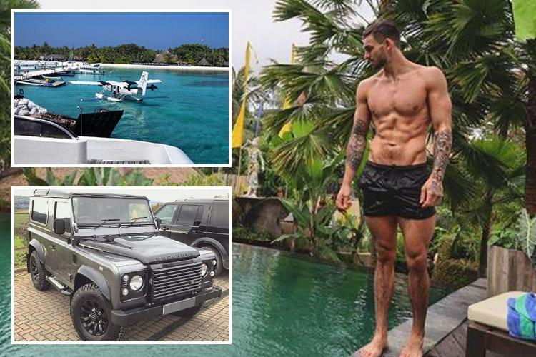 Inside Love Island star Adam Collard's 'secret' millionaire lifestyle with 10 holidays in three years, £30k car and designer gear
