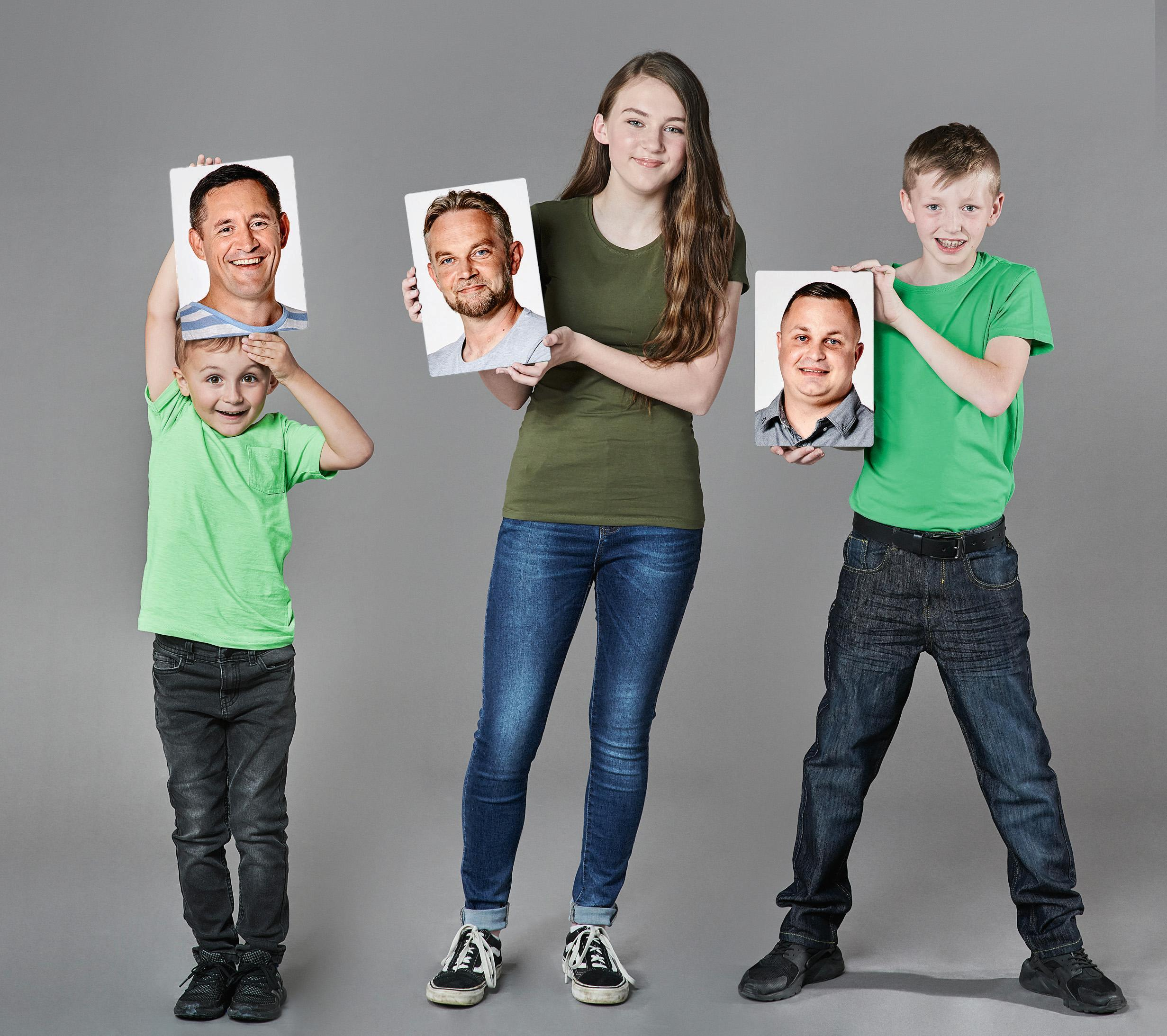 Three children might have the perfect match for single ladies looking for love — their dad
