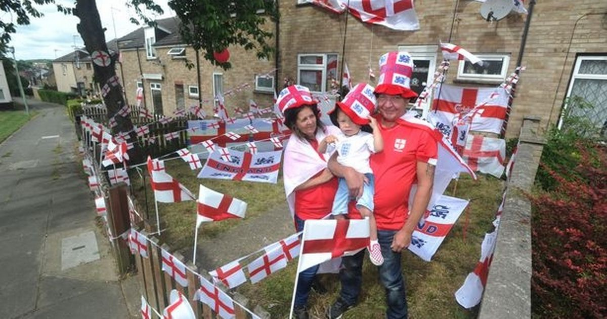 England superfans drape entire house in flags – but didn't see last night's win