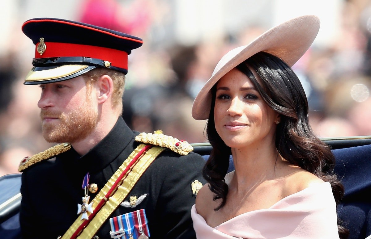 You NEED To These Gorgeous Photos Of Meghan Markle & Prince Harry At The Trooping Of The Color