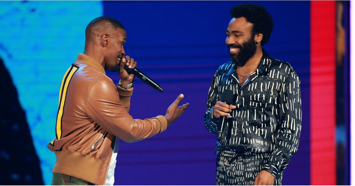 """BET Awards: Donald Glover Joins Jamie Foxx For a Surprise Performance of """"This Is America"""""""