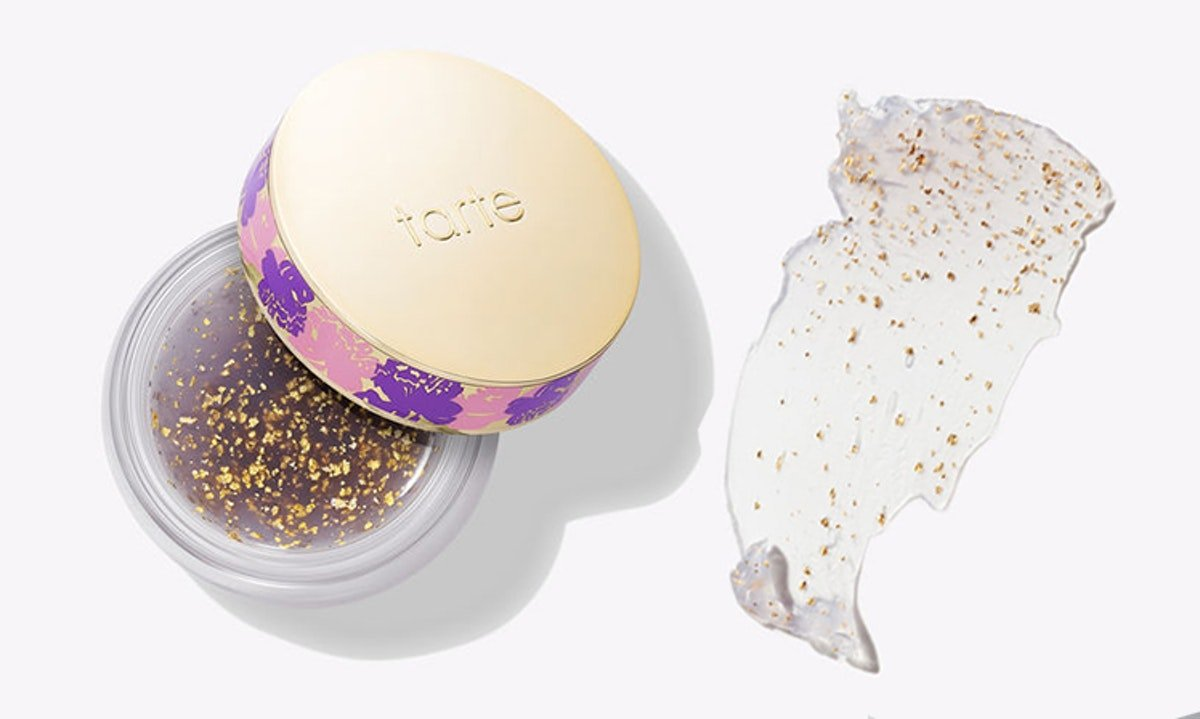 Tarte's Cosmic Maracuja Oil Balm Is The Solid Version Of Their Drops & It's Packed With Gold Flakes