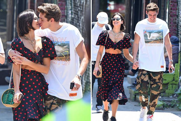 Dua Lipa snogs boyfriend Isaac Carew just six days after he was spotted getting close to mystery girl in a club
