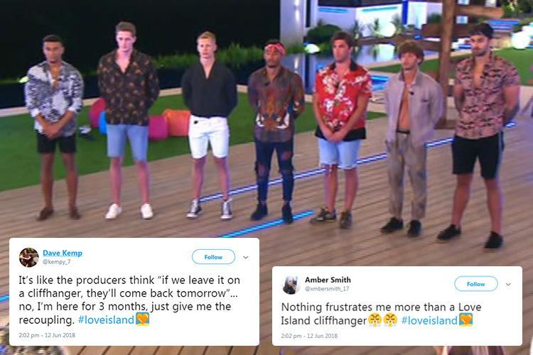 Love Island fans left furious after show ends on a cliffhanger – making them wait 24 hours to watch the new recoupling