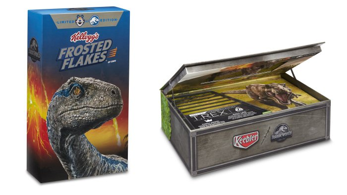 'Jurassic World: Fallen Kingdom' Video Now Playing on Kellogg's Boxes
