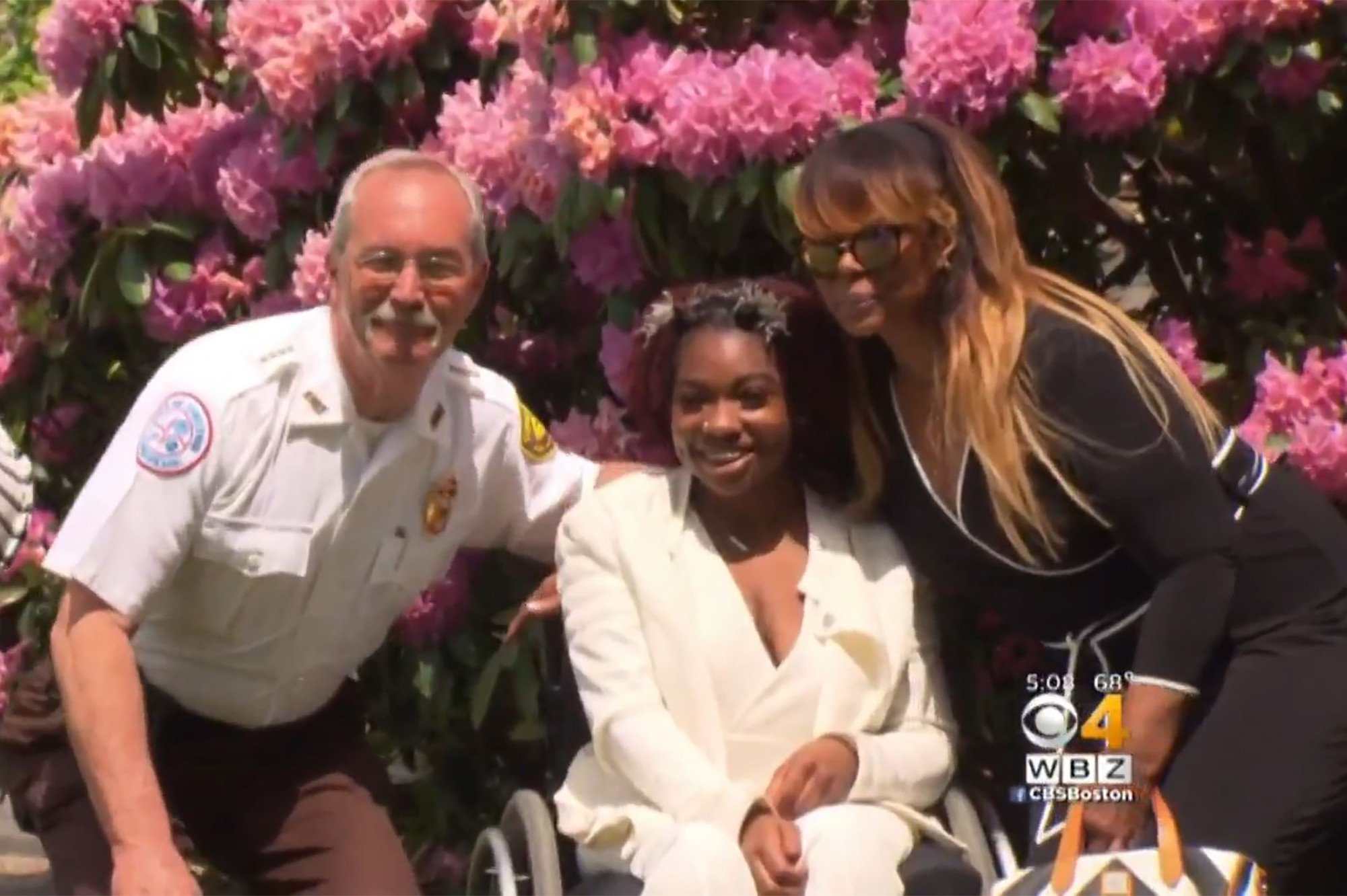 Teen paralyzed by bullet as toddler reunites with hero EMT at graduation