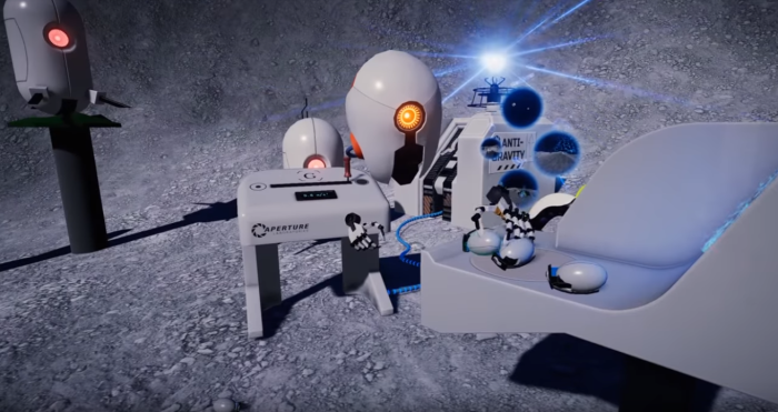 Check Out the 'Portal'-Themed Demo for Valve's Knuckles EV2 VR Controller