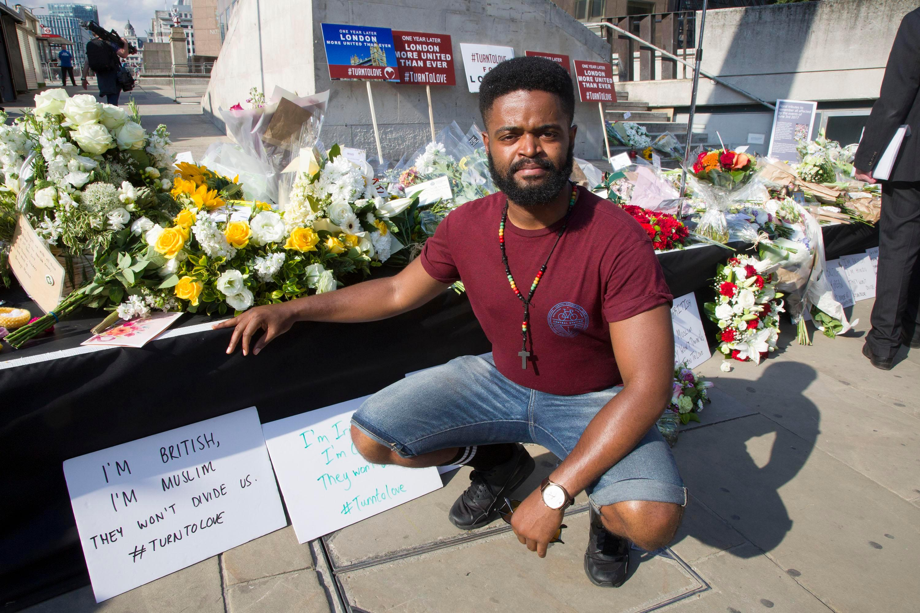 London Bridge hero wants to be reunited with wounded German tourist he helped after she was knocked 9ft in the air by terrorists' van