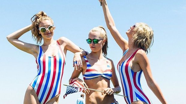 Taylor Swift, Gigi Hadid & More Stars Rocking Sexy, Striped Swimsuits For Summer
