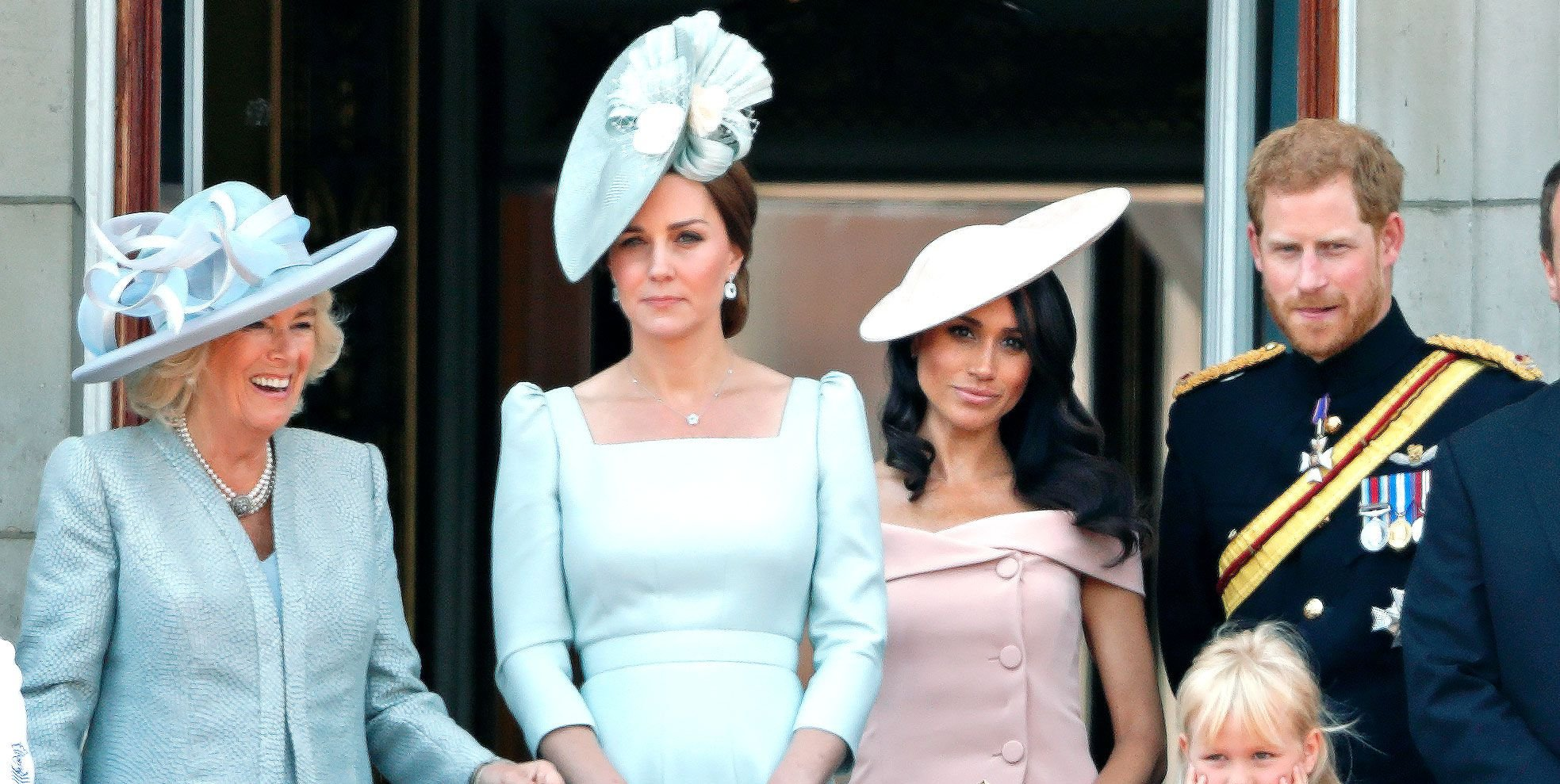 The Weird Reason Why Meghan Markle Had to Stand Behind Kate Middleton at Trooping the Colour