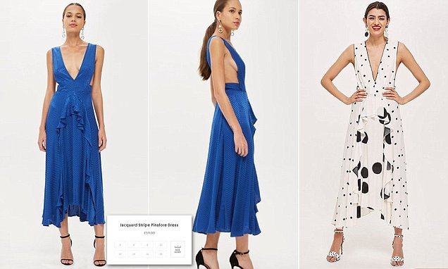 Topshop's sell out polka dot dress is relaunched in blue