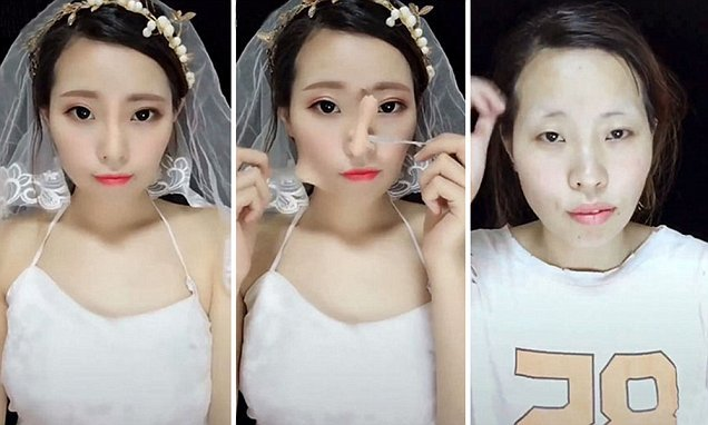 Make-up transformation trend sweeping China: Before and After pictures