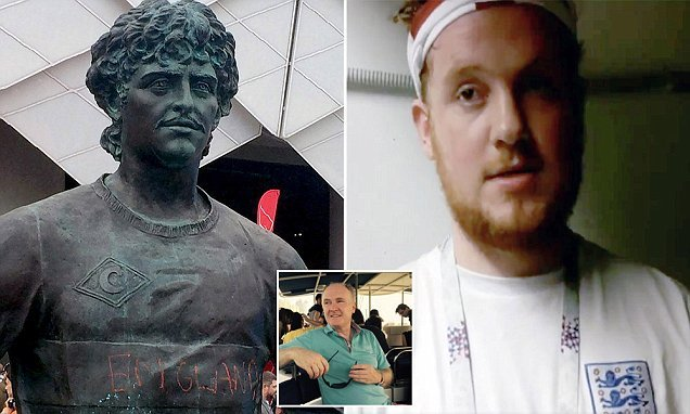 England fan defaced Russian statue is son of Queen Mother's guard