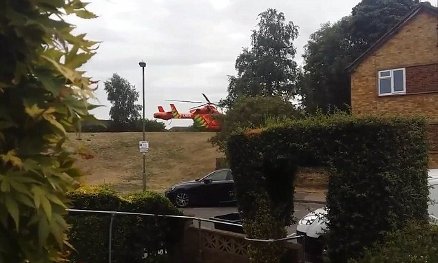 Male victim is airlifted to hospital after being stabbed in London