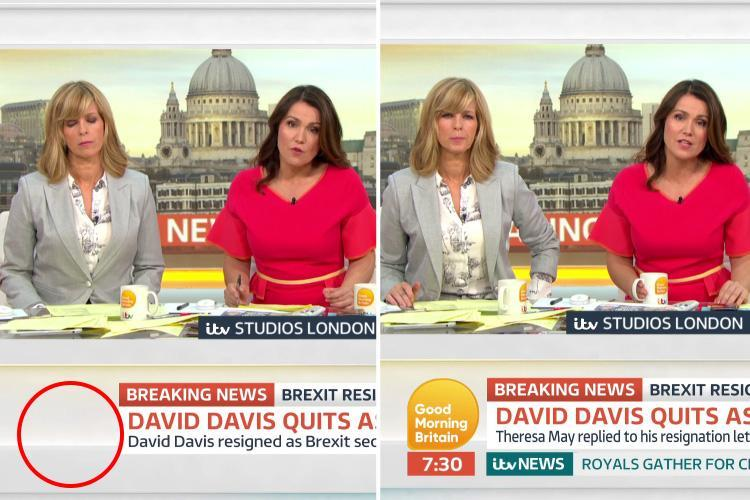 Good Morning Britain fans left in a flap as clock goes 'missing' from screen and claim Piers Morgan's absence has 'ruined' their Monday