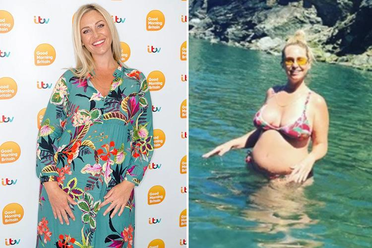 Pregnant Josie Gibson 'has gained four stone but never been happier'