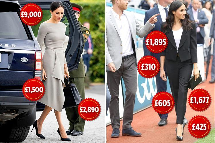 Meghan Markle wears £18,000 worth of designer clothes in just THREE hours while on royal visit to Ireland