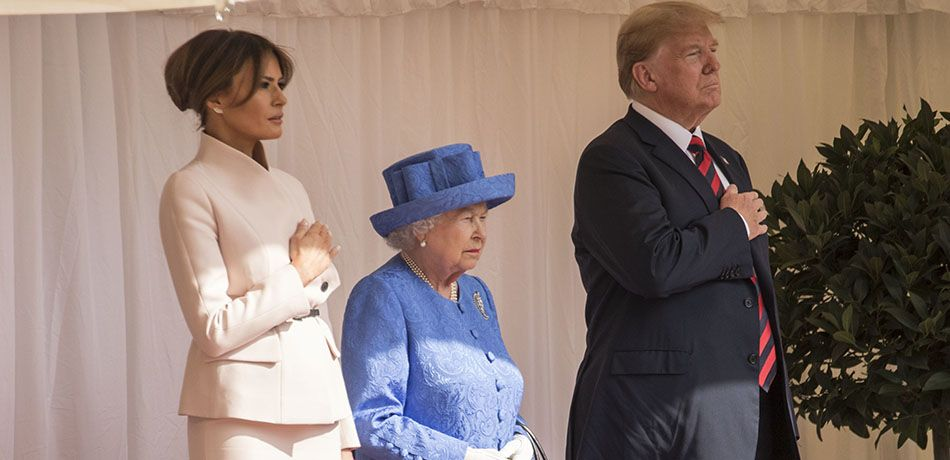 Melania Trump Shines While Meeting The Queen Amidst Donald Trump's Breaches In Royal Protocol