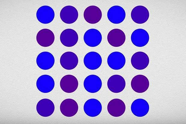 Do you see these dots as blue or purple? People can't agree what colour they are – and they're ALL right