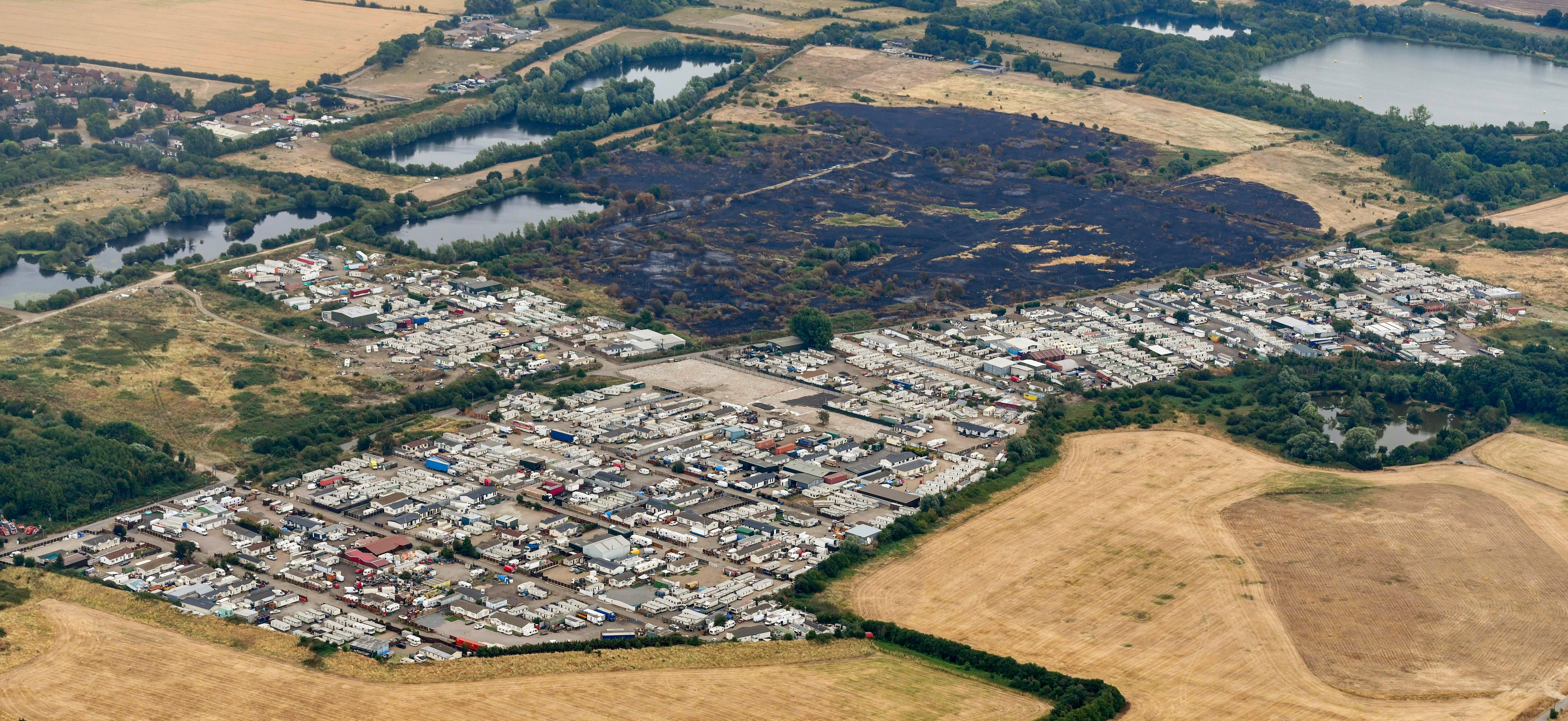 Sprawling Essex traveller site has become Europe's largest with more than 1,000 people camped there